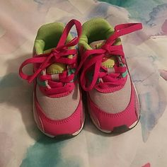 fc8b5c567b01b0 Shop Kids  Nike Pink Green size 5BB Sneakers at a discounted price at  Poshmark.