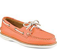 Gold Cup Authentic Original Honeycomb Boat Shoe, Coral