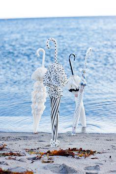 Beautiful umbrellas by the water by Lisbeth Dahl  www.artandmore-shop.de
