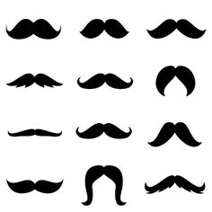 Set of 12 Mustache Vinyl Decal Stickers  Made In USA by WrenGifts, $5.00