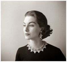 vintage everyday: Beautiful Black & White Photos of Women in Old-Fashioned, ca. 1940's