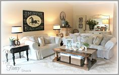 Even though I'm still not completely finished, I wanted to share the rest of my living room makeover. There are still little details and thi...
