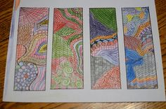 Zentangle- My kids liked the templates to color or make them on their own