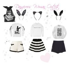 ♡ Dangerous Woman Tour Outfits ♡ by kaylalovesowls on Polyvore featuring polyvore fashion style Moschino Topshop Fleur du Mal Cara clothing