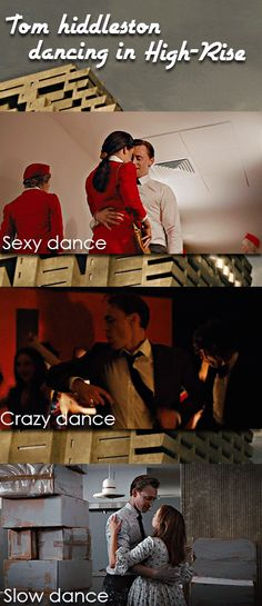 Tom Hiddleston dancing in High-Rise