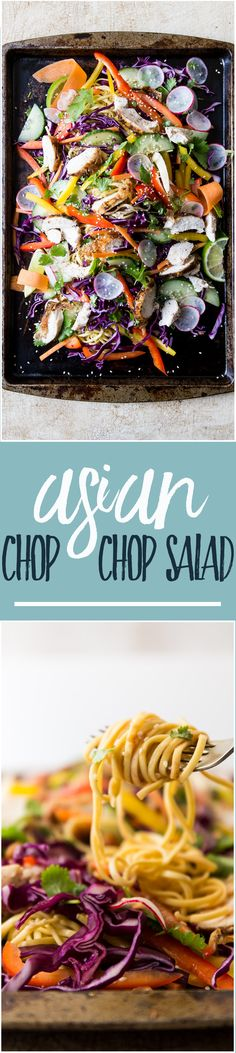 Asian Chicken Chop Chop Salad | Fresh and fuss free flavours are what this Asian Chicken Chop Chop Salad is all about. Spicy, salty and sweet with the fresh vibe of summer veggies and loads of cilantro to keep this salad humming. | www.wildeorchard.co.uk