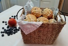 Peach and Blueberry Muffins