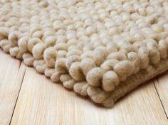 Wollteppich SKYWALKER, Naturweiß, 70x140 cm, 100 % Schafschurwolle