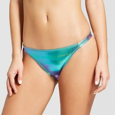 The sun shouldn't be the only thing shining this summer — this Metallic Cheeky Bikini Bottom from Xhilaration™ is sure to keep your style shining and oh-so cool. The metallic blue bikini bottom makes for an exciting look, while the extra cheeky style and shirring give you a fun and flattering fit.