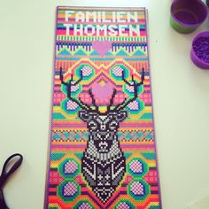 Familien Thomsen - Oh Deer hama perler art by Louise Thomsen