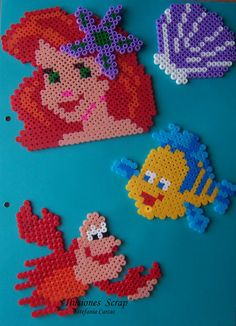 The Little Mermaid Disney characters hama beads by ILUSIONES SCRAP