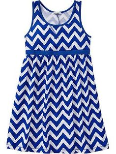Girls Printed-Jersey Tank Dresses | Old Navy