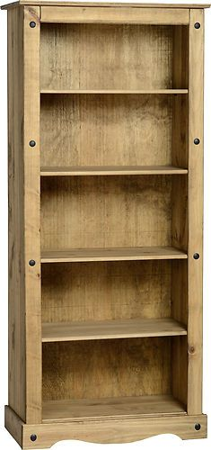 Corona Living Room Furniture | Mexican Pine - Tall Bookcase