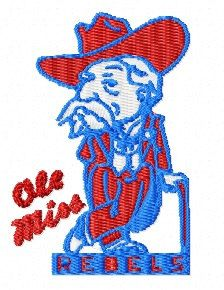Ole Miss Rebels Embroidery Machine Designs Instant by candines Ole Miss Rebels, Embroidery Monogram, Machine Embroidery Patterns, Where The Heart Is, Appliques, Smurfs, Fonts, Patches, College