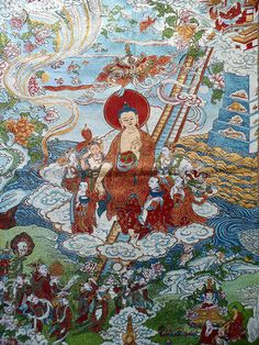 Buddha Shakyamuni Coming Down from Heaven after Visiting His Deceased Mother   Explosion Luck   Feng Shui Paintings & Buddhist Art