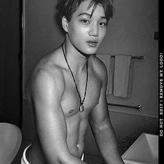 Have you caught in the bathroom yet? Hot Korean Guys, Exo Korean, Korean Boy, Kaisoo, Exo Kai, Exo Chanyeol, Chen, Sekai Exo, Ballet Dance Videos
