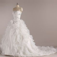 Off Shoulder Beads Tulle Crystal Lace up A Line Tulle Bridal Gown Wedding Dress
