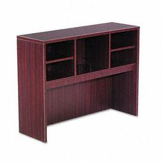 Valencia Series Open Storage Hutch, 47w x 15d x 35-1/2h, Mahogany by Alera Products. $248.59. Alera - Valencia Series Open Storage Hutch, 47w x 15d x 35-1/2h, Mahogany - Sold As 1 EachA place for everything and everything in its place! Increase productivity and reduce desktop clutter with this durable laminate hutch. As stylish as it is practical, it features a compartmentalized storage system with adjustable shelves and can accommodate your computer monitor underneath for eve...