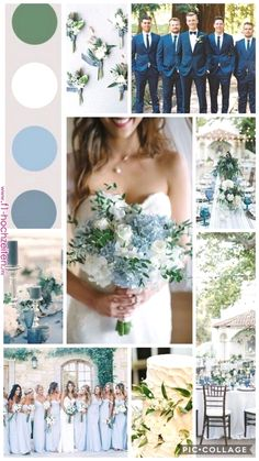 Ice Blue And Green Spring Wedding Spring Wedding Colors pertaining to Amazing Wedding Colors for Spring - Wedding Party Ideas Green Spring Wedding, Spring Wedding Bouquets, Wedding Dresses, Bridal Bouquets, Spring Wedding Themes, March Wedding Colors, Periwinkle Wedding, Printed Bridesmaid Dresses, Unique Wedding Colors