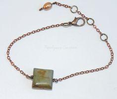 COLLECTION BOHEMIA : BRACELET FIN MINIMALISTE JASPE PICASSO : Bracelet par popibijouxcreation