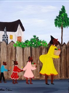 Lisa Cain Folk Art, Black Folk Art - Gallery XI-Art for Sale