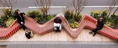 Portable ParkedBench parklet injects a breath of fresh air in London