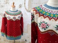 Vintage Tyrolean fair isle sweater