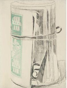 Warhol drawings nevver:  Untitled (Roll of Dollar Bills), Warhol