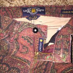 Lucky Brand size 24 They are a velvet like material. Basic 5 pocket pant Lucky Brand Pants Skinny