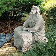 outdoor prayer garden images | Design Toscano Jesus in The Garden of Gethsemane Statue
