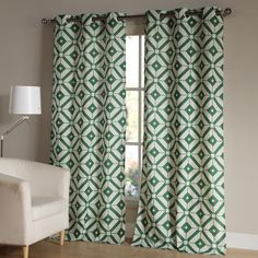 Features:  -McKenna collection.  -Set includes 2 panels.  Product Type: -Panel pair.  Pattern: -Geometric.  Material: -Synthetic.  Cleaning Method: -Machine washable. Dimensions:  Panel Width - Side t