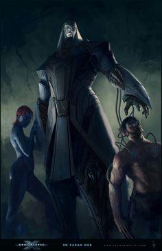 Apocalypse, Mystique & Wolverine by Lucas Parolin #XMen #Mutants