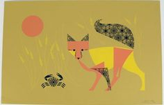 The Crab and the Fox by Eleanor Grosch / The Fox is a Cancer