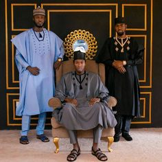 """Agbada Man ( The """"Tassel"""" collection by MAN African Dresses Men, African Attire For Men, African Wear, African Outfits, African Clothes, African Style, African Inspired Fashion, African Men Fashion, Prom Suits For Men"""