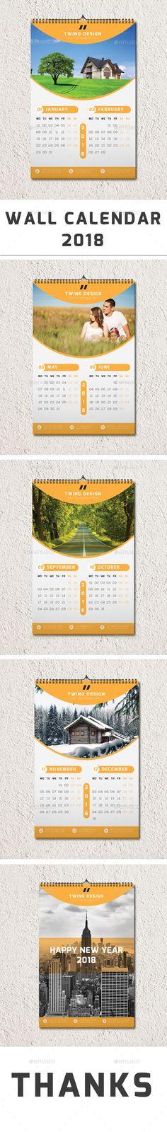 Wall Calendar 2018 - Calendars #Stationery