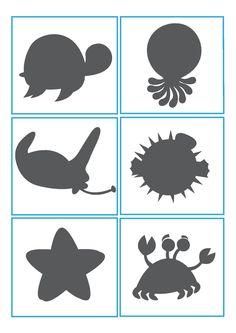 Resultado de imagen para sea animals for kindergarten English Activities, Toddler Activities, Activities For Kids, Cubby Tags, File Folder Activities, Preschool Education, Ocean Themes, Busy Book, Toddler Learning