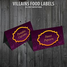 Hey, I found this really awesome Etsy listing at https://www.etsy.com/listing/463260706/disney-villains-food-labels