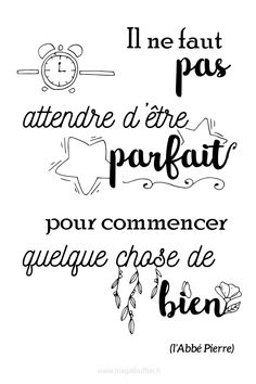 Positive Attitude, Positive Vibes, Positive Quotes, Morning Thoughts, Good Thoughts, Sketch Notes, Positive Inspiration, French Quotes, Life Words