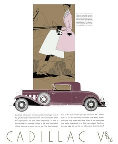 Cadillac/LaSalle Advertising (1931)  Art by Leon Benigni (1892–1948)  Cadillac had a choice of how to address the dismal economic situation facing its 1931 lineup of vehicles. They could tuck their marketing tails and weather the storm, or they could go long. They went to Europe. http://www.hemmings.com Hemmings Motor News - June, 2010