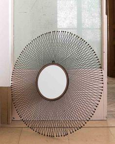 Isum - Sunburst Wall Mirror in Metal Wall Mirrors Metal, Hallway Mirror, Decorative Mirrors, Metal Walls, Sunburst Mirror, Round Mirrors, Minimal Design, Contemporary, Modern