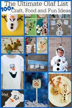 The Ultimate list of Olaf craft, food and fun party ideas perfect for your little Frozen fan!