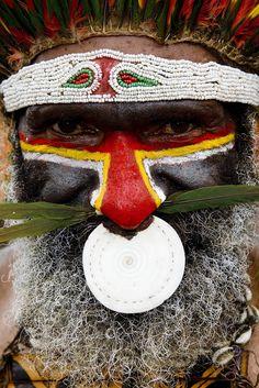 Papua New Guinea , Highlands, Mount Hagen festival singsing © Eric Lafforgue www.ericlafforgue.com