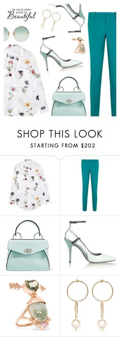 Have a lovely Sunday everyone :* by dressedbyrose on Polyvore featuring Equipment, Gucci, Alexander Wang, Proenza Schouler, Jennifer Fisher, Daniela Villegas, Linda Farrow, Spring, ootd and polyvoreeditorial