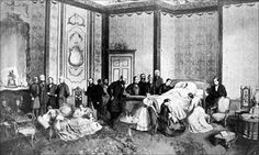 Prince Albert's deathbed at  Windsor
