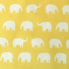 1 Yard Japanese Elephant Fabric in Yellow  light weight by FABITAT, $16.00