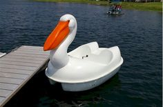 Check out the Pelican Pedal Boat! These eye-catching paddleboats are popular money-makers as rentals at resorts festivals and theme parks. & Pedal Boat Five 5 Person Peddle Paddle Sun Canopy Fishing Water ...