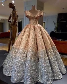 luxurious crystal beaded and sequins ball gown wedding dress with off the shoulder neckline,so bling bling!i want to wear it on my wedding day,it is just the princess dream for every bride