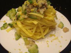 Ricetta Portata principale : Tagliolini allo zenzero con zucchine gamberi e vongole da Claudiacombi