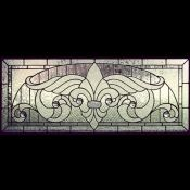 Victorian stained glass patterns: Victorian Transom 1