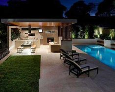75 Greatest Inspirations Fantastic Outside Pool Decorations Concepts Modular Outdoor Kitchens, Outdoor Spaces, Outdoor Cooking Area, Outside Pool, Home Pub, Pool Landscape Design, Built In Grill, Backyard Garden Design, Swimming Pools Backyard